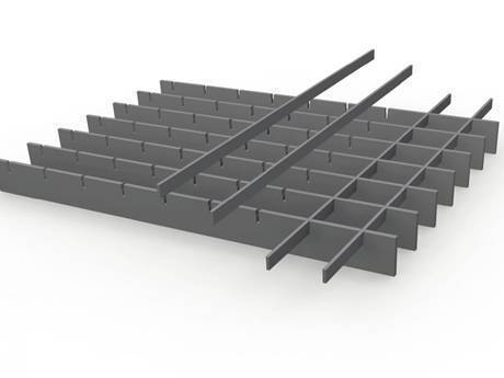 A common steel grating is in the picture.