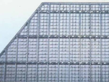 A compound steel grating that steel grating as floor and in the bottom welded steel mesh.