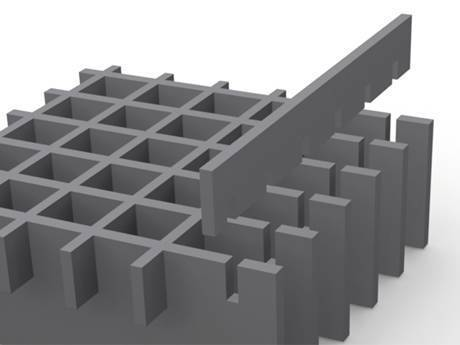 A heavy duty steel grating is in the picture.