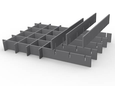 A integral steel grating is in the picture.