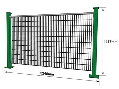 A piece of welding steel grating fence with narrow mesh.