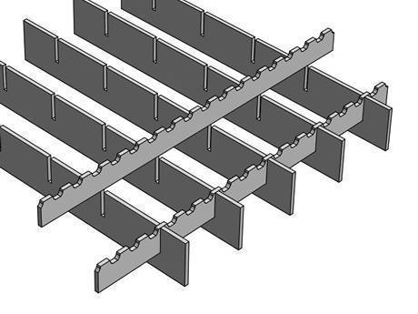 A press locked steel grating with PR/S3 surface is in the picture.