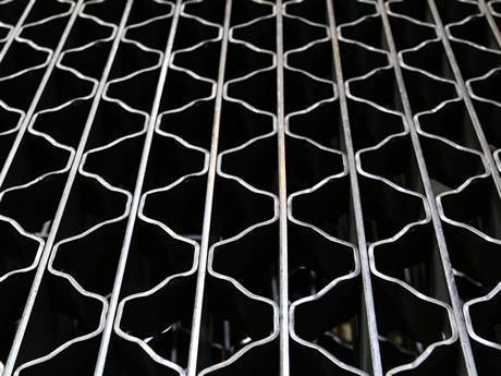 This is riveted grating with smooth surface.