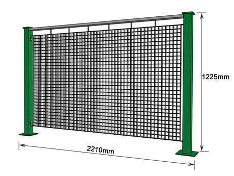 33 mm square steel grating fence.