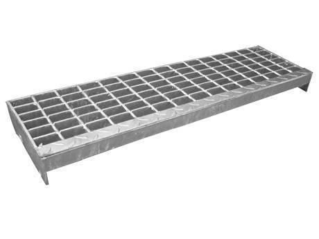 带有方格板突缘的焊接楼梯踏板钢格板。