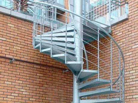 螺旋楼梯踏步钢格板楼梯用于民用建筑。