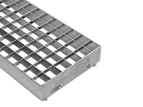 部分压锁式楼梯踏步钢格板如图所示。