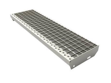 表面光滑的楼梯踏板钢格板。
