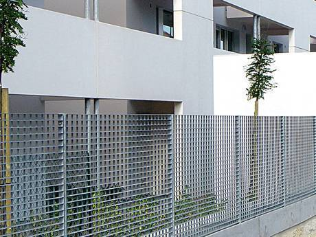 Steel grating enclosure is very sturdy enough for building fence.